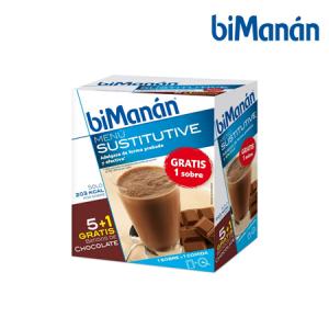 Bimanán Batido Chocolate 6 Sobres