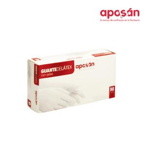 Aposan Guantes De Latex T- Med 100 U
