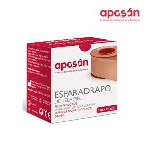Aposan Esparadrapo Tela Piel 5 X 2,5 Cm