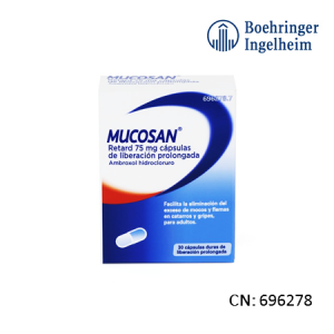 Mucosan Retard 75 Mg 30 Capsulas Liberacion Prolongada