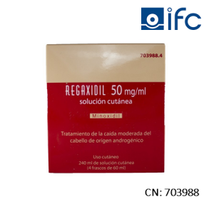 Regaxidil Solución Cutánea 50mg/ml 240ML