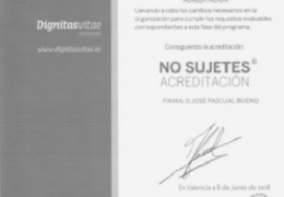 "Sello ""Acreditación"" del Programa No Sujetes"