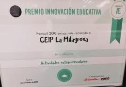 El Colegio La Milagrosa ganador en su categoría en la II Edición de los Premios de Innovación Educativa