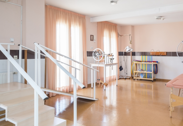 Sala de rehabilitación y fisioterapia