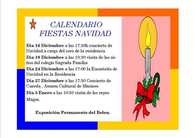Calendario de actividades para estas Navidades