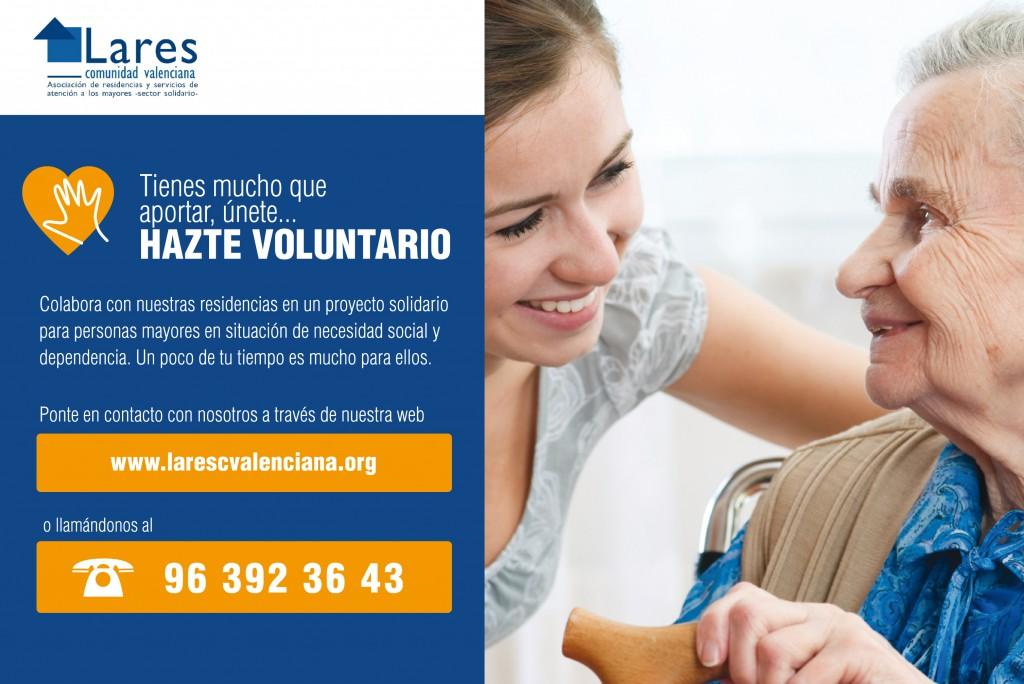 Lares CV relanza la campaña de captación de Voluntariado para sus residencias de mayores