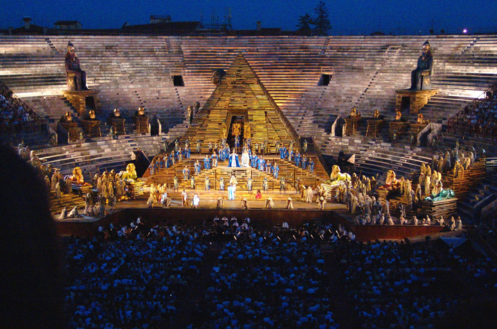 Performances in the outdoor arena and roman theater