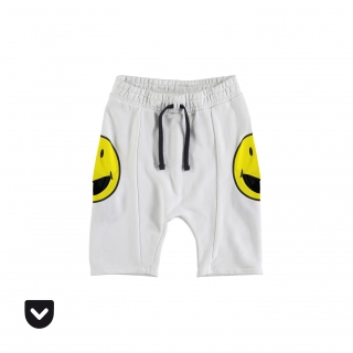 Smiley Pocket Pants (white)