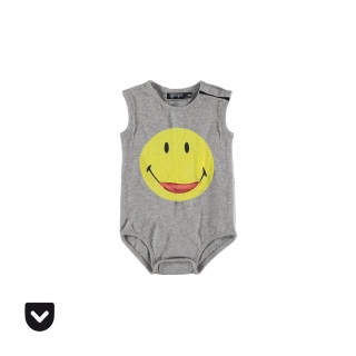 Smiley Pocket Baby Body (melange)