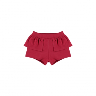 Waist Peplum Short (red)