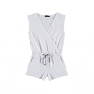 Short Crossed Jumpsuit (white)