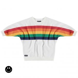 Rainbow Poncho (white)