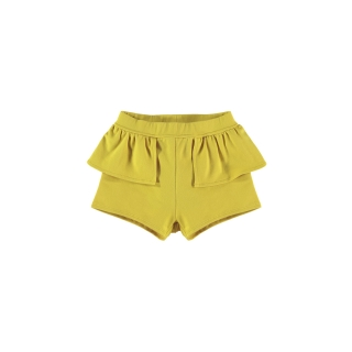 WAIST PEPLUM SHORT (LEMON)