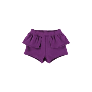 WAIST PEPLUM SHORT (GRAPE)