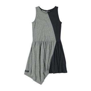 BICOLOR DRESS (MELANGE + BLACK)