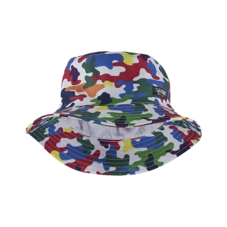 CAMO RAINBOW BUCKET HAT